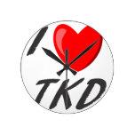 I amo TKD Relógios De Paredes