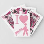 I amor del corazón Golfing naipes blancos rosados  Barajas