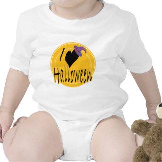 I amor (del corazón) Halloween con el gorra de la  Traje De Bebé