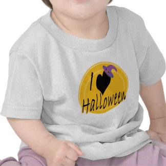 I amor (del corazón) Halloween con el gorra de la Camisetas
