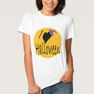 I amor (del corazón) Halloween con el gorra de la Playeras