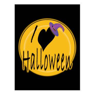 I amor (del corazón) Halloween con el gorra de la Postales