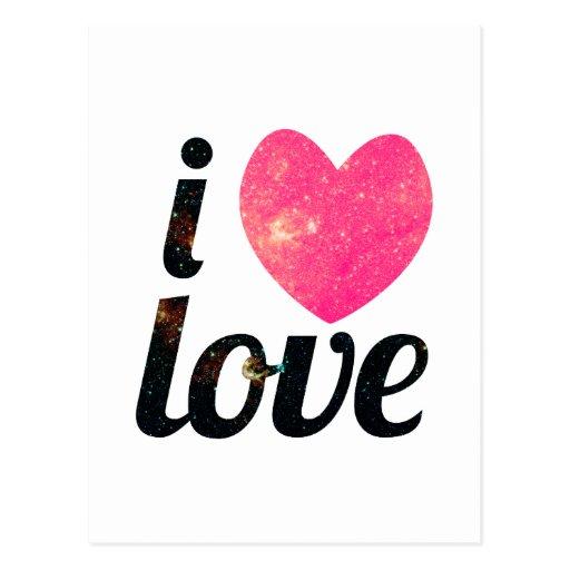 I amor del corazón postal
