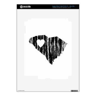 I amor del estado del esquema del Grunge de Caroli iPad 3 Skins