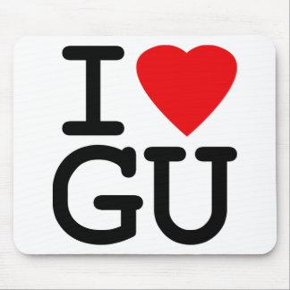 I amor Guam del corazón Alfombrillas De Ratón