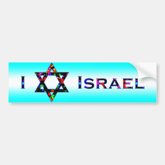 I (amor) Israel Pegatina Para Auto