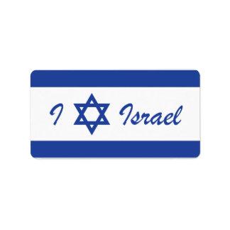 I (amor) Israel - estrella de David Etiquetas De Dirección