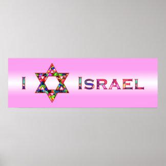 I (amor) Israel - estrella de David Póster