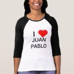 I amor JUAN PABLO del corazón Playera
