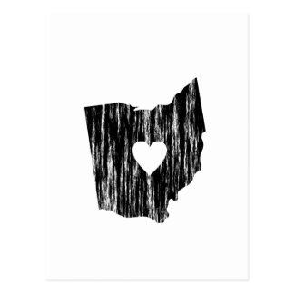 I amor llevado Grunge del estado del esquema de Postal