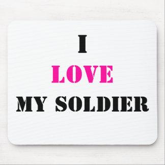 I, amor, mi soldado alfombrilla de ratón