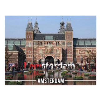 I Amsterdam Landmark, Amsterdam Holland Postcard