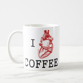 I anatomical heart coffee coffee mug
