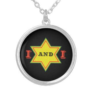I and I Round Pendant Necklace