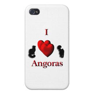 I angoras del corazón iPhone 4/4S carcasa