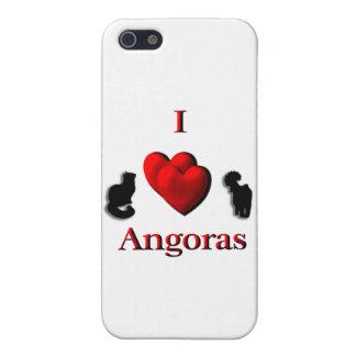 I angoras del corazón iPhone 5 carcasas