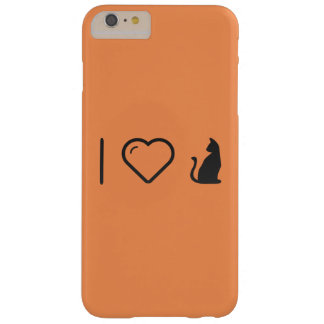 I animales de Halloween del corazón Funda Para iPhone 6 Plus Barely There