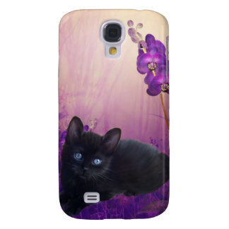 i Animals Cat Flowers Samsung Galaxy S4 Case