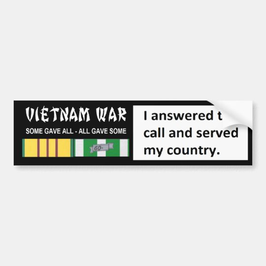 I ANSWERED THE CALL AND SERVED MY COUNTRY BUMPER STICKER