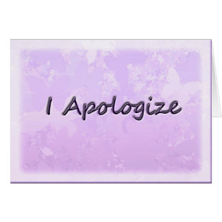I Apologize Card