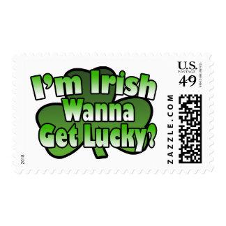 I'm Irish Wanna Get Lucky Postage Stamps