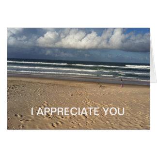 I appreciate you greeting card!