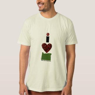 I arándanos de Oregon del corazón Playeras