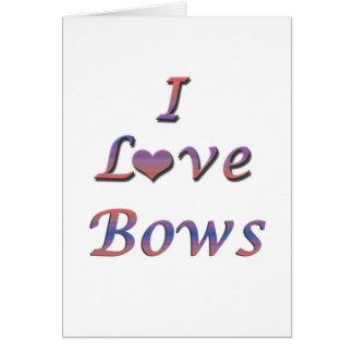 I arcos del corazón (amor) tarjeta de felicitación