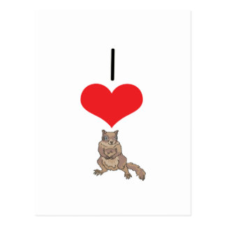 I ardilla del corazón (amor) postales