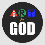 i ART for God-round Round Stickers