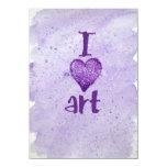 I arte del corazón invitación 11,4 x 15,8 cm