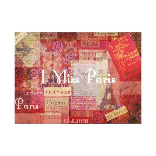 I arte parisiense francés del tema de SRTA. PARÍS  Impresiones En Lona
