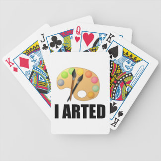 I arted bicycle playing cards