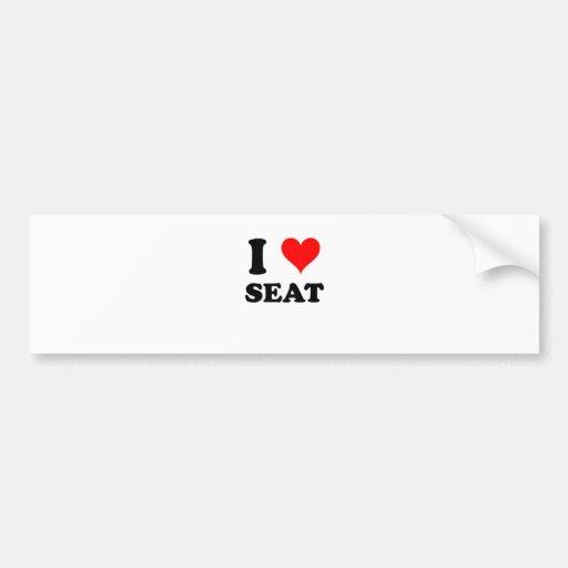 I asiento para dos pegatina de parachoque