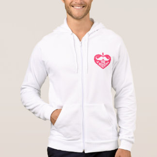 I ask you a question heart hoodie
