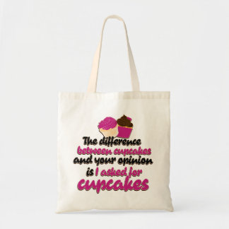 I asked for cupcakes tote bag