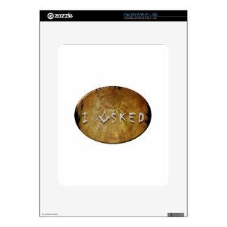 I asked Free Mason Skin For iPad