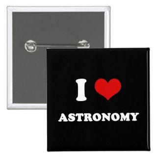 I astronomía del amor del corazón I Pin Cuadrado