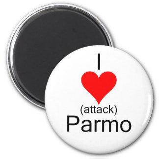 I ataque del corazón Parmo Imán Redondo 5 Cm