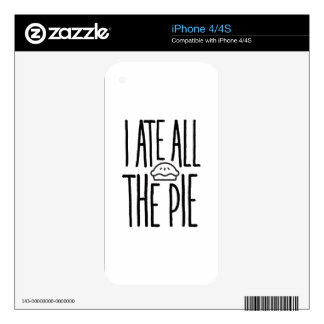 I Ate All The Pie Skin For The iPhone 4