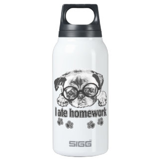 I ate homework insulated water bottle