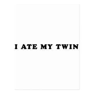 I Ate My Twin Postcard