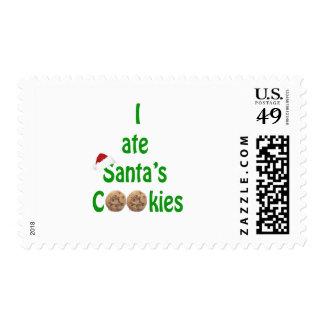I ate Santa's Cookies Postage Stamp
