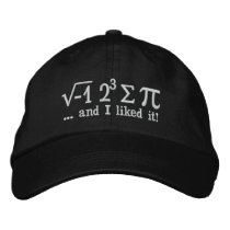I ate some pi and I liked it Math Pun Embroidered Baseball Hat