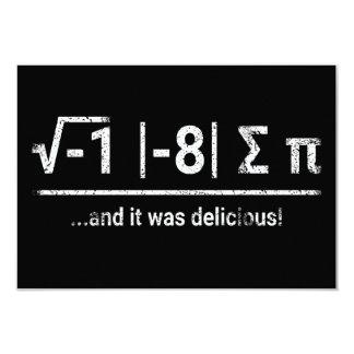 I Ate Some Pi | vintage light Card