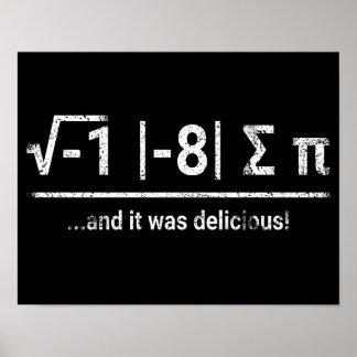 I Ate Some Pi | vintage light Poster