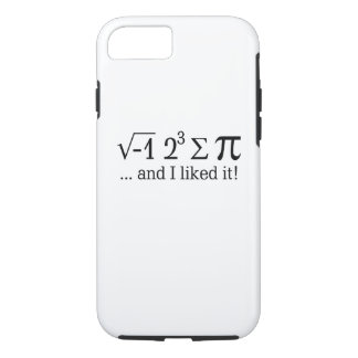 I ate some pie and I liked it Typography iPhone 8/7 Case