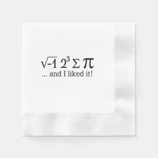 I ate some pie and I liked it Typography Napkin