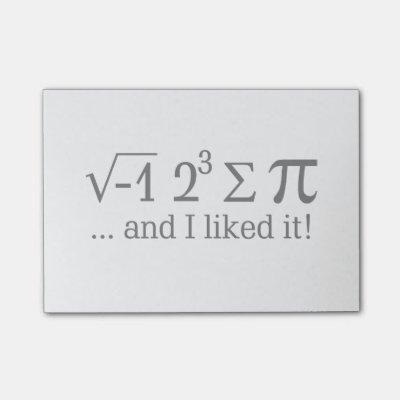Funny Math/Algebra Quote - I'd have x dollars Post-it Notes   Zazzle com