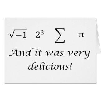 I ate some pie math shirt card